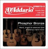 D'Addario EPBB 170 5 - struny na akustickou baskytaru