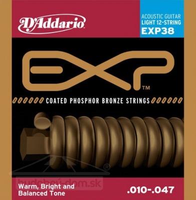 D'Addario EXP 38 - struny na 12 strunnou akustickou kytaru 10/47