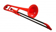 pBone red - plastový pozoun