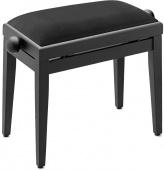 Klavírní lavička nastavitelná - černý mat