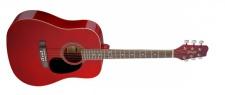 Stagg SA20 D RED - westernová kytara