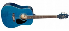 Stagg SA20 D BLUE - westernová kytara