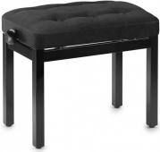 STAGG PB 36 BKM VBK - černá matná/černá samet klavírní lavička