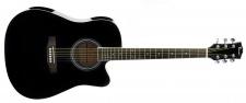 Truwer WG C 4111 BK - westernová kytara černá s výkrojem