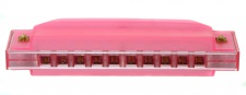 Truwer L 417 B RD - růžová harmonika s pouzdrem