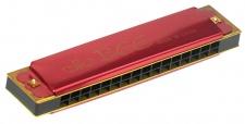 Truwer L 409 A RD - červená foukací harmonika v C
