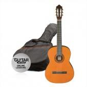 Ashton SPCG 12 NAT Pack - klasická 1/2 kytara s obalem