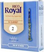 Plátek Rico Royal pro B klarinet - tvrdost 2