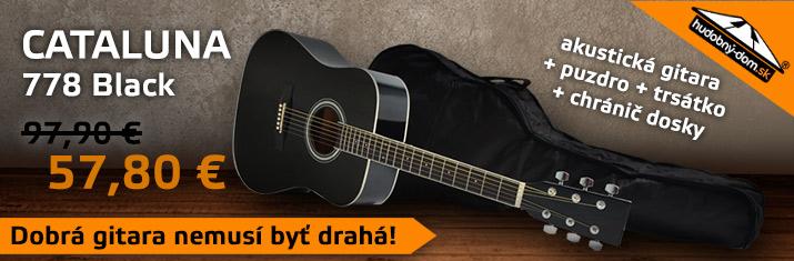 Cataluna 778 Black - akustická gitara s puzdrom len za 57,80 €